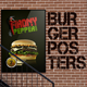 3 Burgers Vintage Posters (Flyers) - GraphicRiver Item for Sale