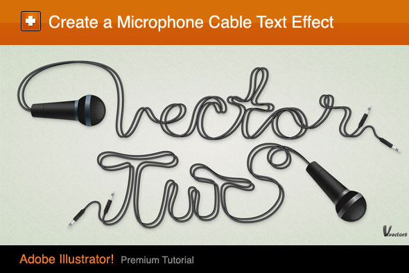 TutsPlus Create a Microphone and Cable Text Effect 400259