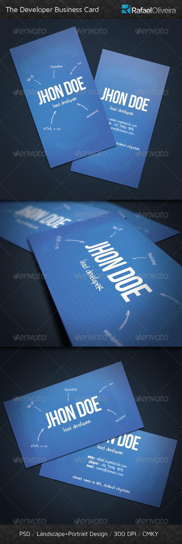 GraphicRiver The Developer Business Card 400290