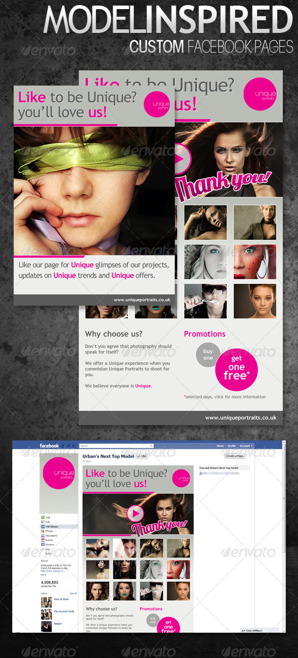 GraphicRiver Inspired Custom Facebook Pages 400727