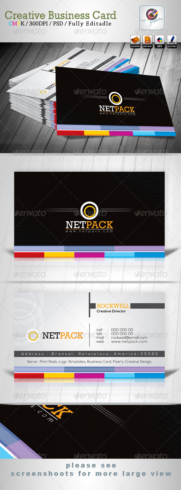 GraphicRiver Netpack Business Card Templates 3670421