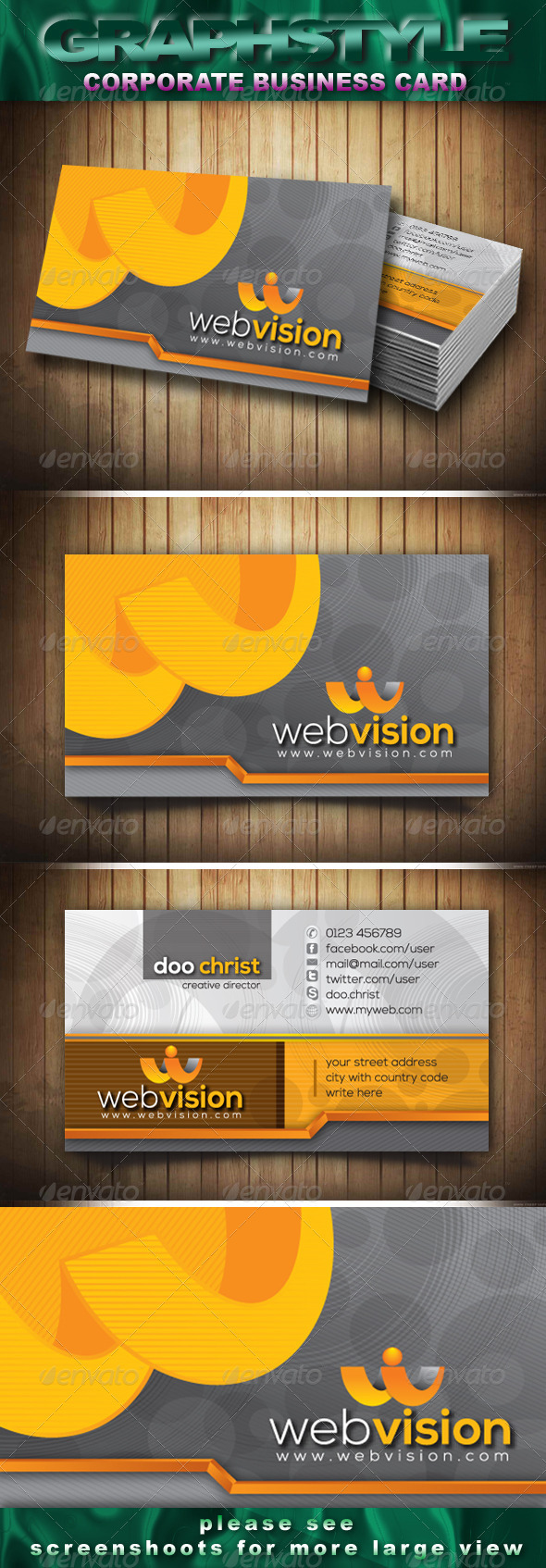 GraphicRiver Webvision Corporate Business Card 3641802