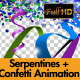 Serpentine/Coil and Confetti Animation Pack 01 - VideoHive Item for Sale