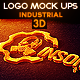 Industrial Photorealistic 3D Logo Mock-Up  - GraphicRiver Item for Sale