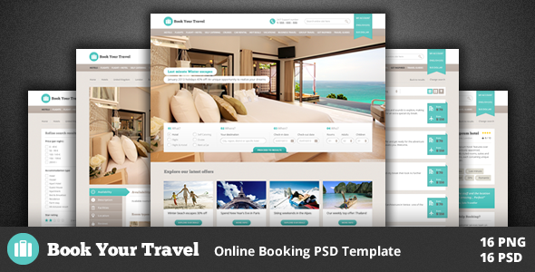 PSD Templates – Book Your Travel – Online Booking Template | ThemeForest