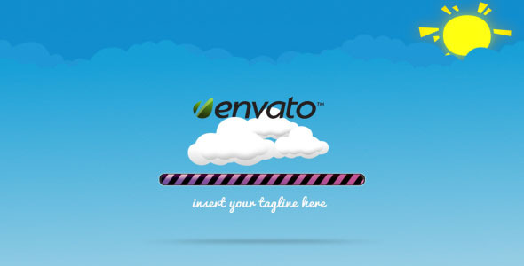 After Effects Project - VideoHive Cartoon Dancing Clouds Loading Screen Int ...
