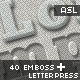 40 Vintage Emboss & Letter pressed Effects - GraphicRiver Item for Sale
