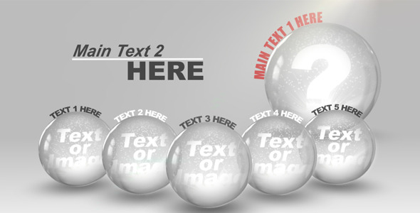 After Effects Project - VideoHive Glass Spheres 397156