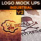 Industrial Photorealistic Logo Mock-Up V2 - GraphicRiver Item for Sale
