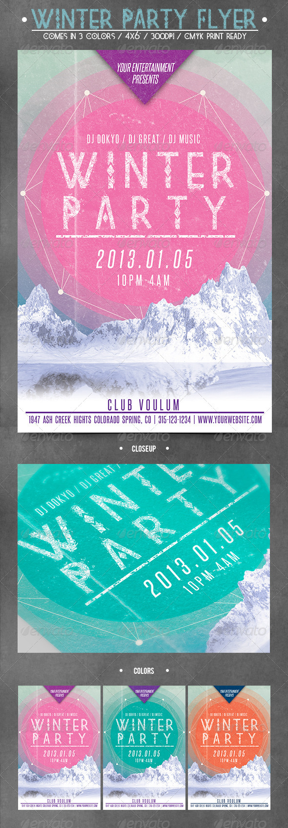 graphicriver winter flyer bundle  graphicriver winter party flyer 3714034 created
