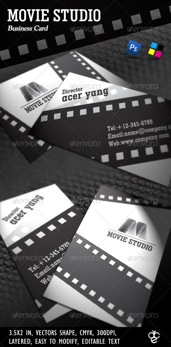 GraphicRiver Movie Studio Business Card 406223