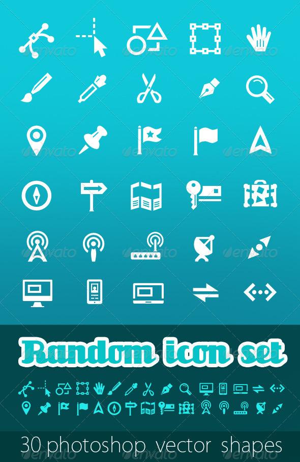 GraphicRiver Random Vector Icon Set 407073