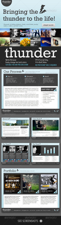 GraphicRiver Thunder PowerPoint Presentation 407264