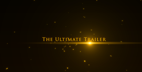 After Effects Project - VideoHive The Ultimate Trailer 407696