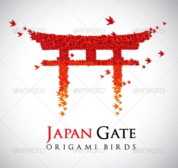 GraphicRiver Origami Gate Torii 407697