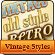 Vintage and Retro Text Styles - GraphicRiver Item for Sale