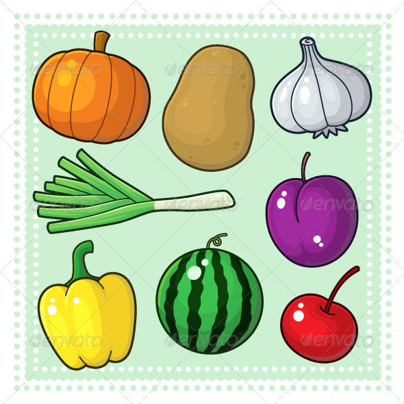 Fruits And Vegetables Drawing For Kids » Dondrup.com  Fruits And Vege...