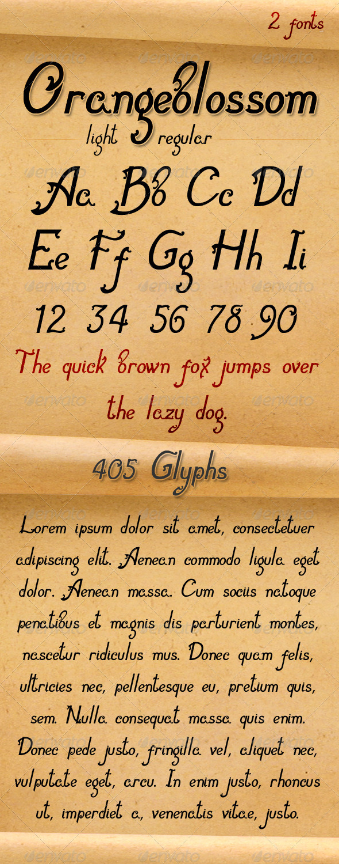 GraphicRiver Orangeblossom-Font 3795688