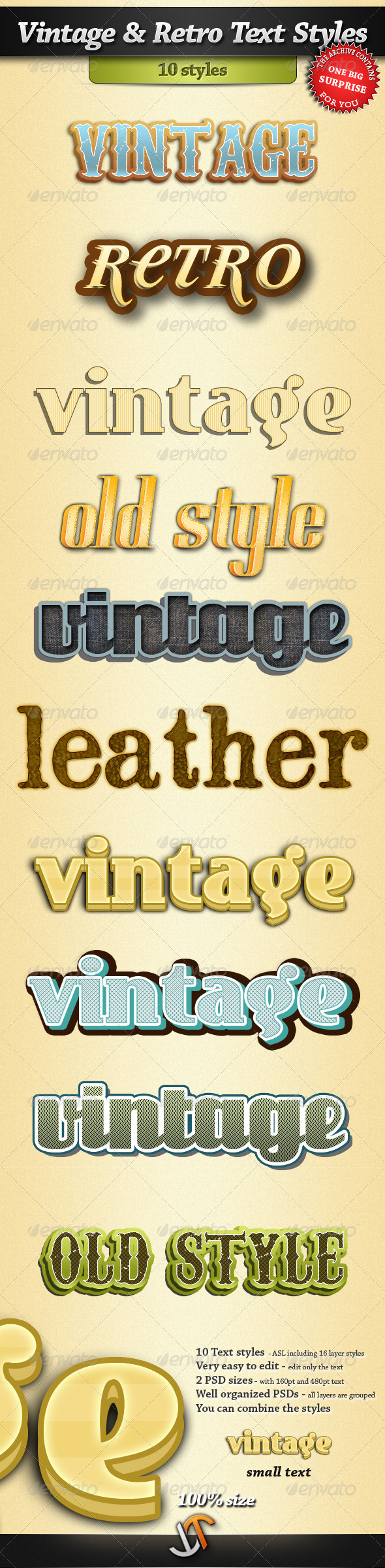 GraphicRiver Vintage and Retro Text Styles 408598