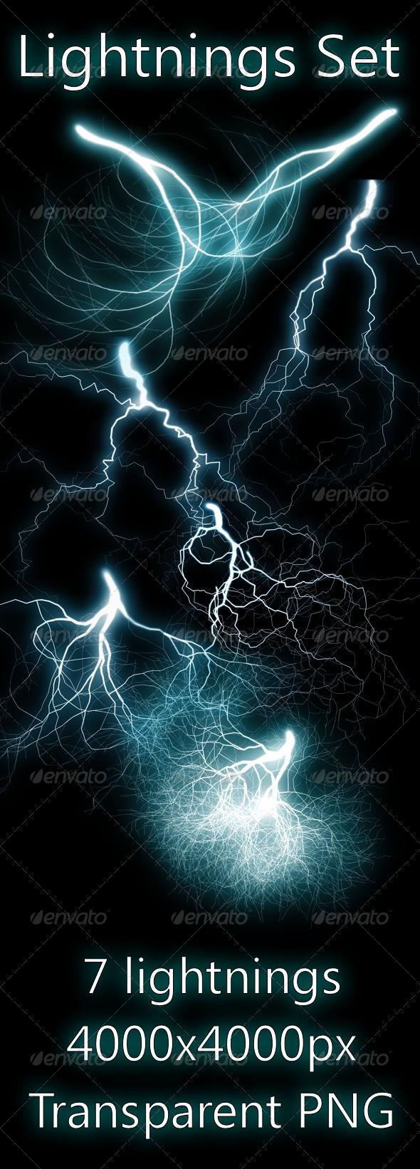 GraphicRiver Lightnings Set 410207