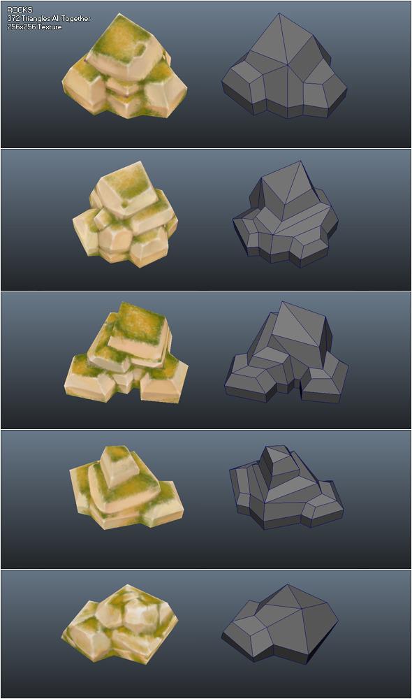 3DOcean Low Poly Rocks 410712