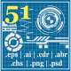 51 Techno & Hi Tech Elements - GraphicRiver Item for Sale