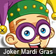 Vector Mardi Gras Joker Mascot - GraphicRiver Item for Sale