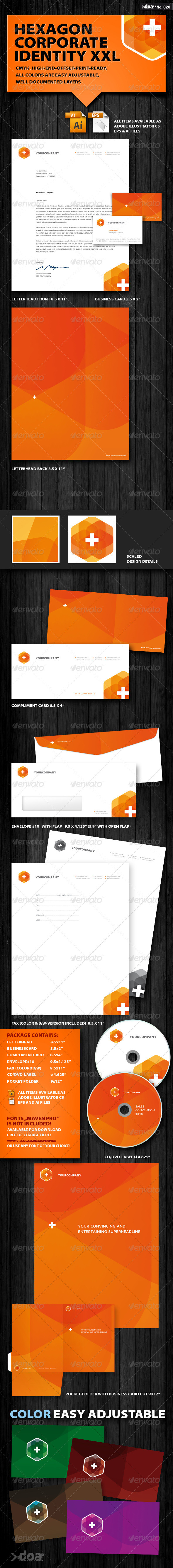 GraphicRiver Hexagon Corporate Identity XXL 411159