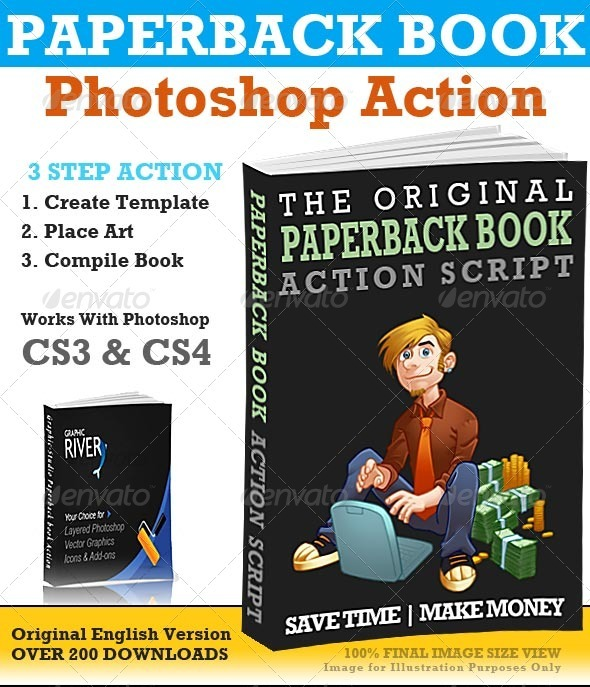 GraphicRiver Paperback Book Action 35689