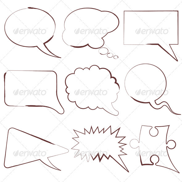 GraphicRiver Speech Bubbles 411442