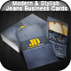 Modern & Stylish Jeans Business Cards - GraphicRiver Item for Sale