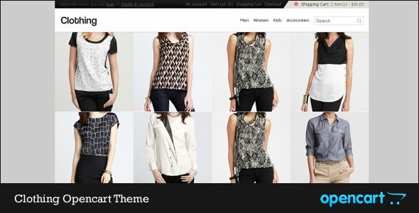 ThemeForest Clothing Opencart Theme 411811