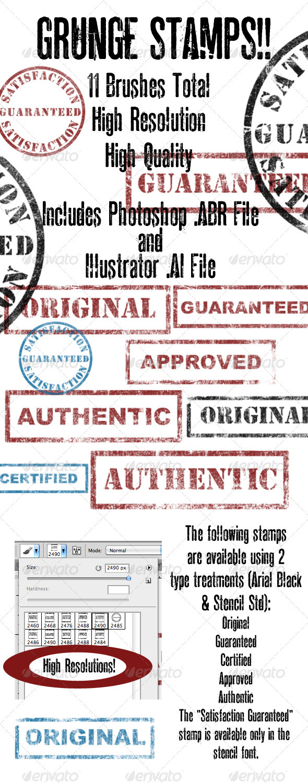 GraphicRiver Grunge Brush Vector Stamp Set 411979