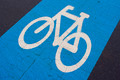 Blue bicycle lane - PhotoDune Item for Sale