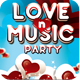Love and Music Valentine Retro Party Flyer - GraphicRiver Item for Sale
