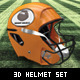 3D Football Helmet Set - GraphicRiver Item for Sale