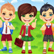 Vector Smiling Schoolchildren Boys and Girl - GraphicRiver Item for Sale