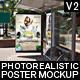 Realistic Bus Stop Flyer Poster Mockup 02 - GraphicRiver Item for Sale