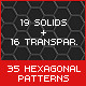 19 HEXagonal Patterns Big & Small - GraphicRiver Item for Sale