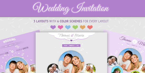 Wedding Invite Email Template: Soft And Clean Email Template By