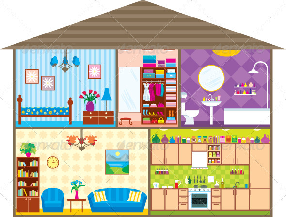 Rooms Within The Home Cartoon 187 Tinkytyler Org Stock
