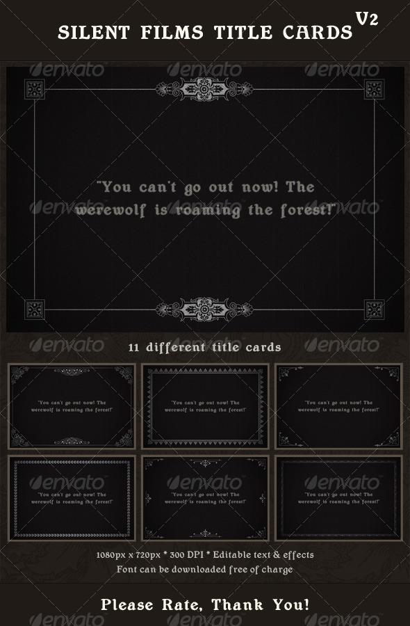 Silent Movie Dialogue Card Template » Dondrup.com