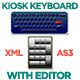 XML Driven Kiosk Keyboard with Editor - ActiveDen Item for Sale