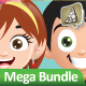 Manga Kids Mascot Mega Bundle - GraphicRiver Item for Sale