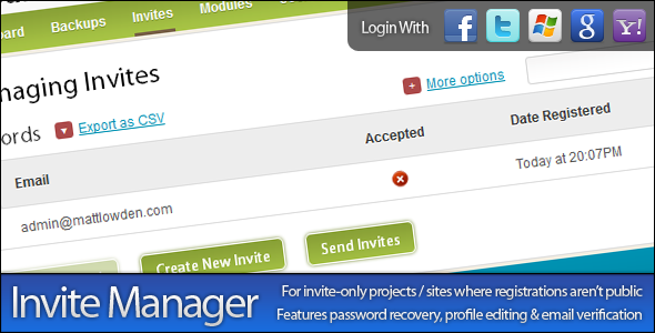 CodeCanyon Invite Manager 425292
