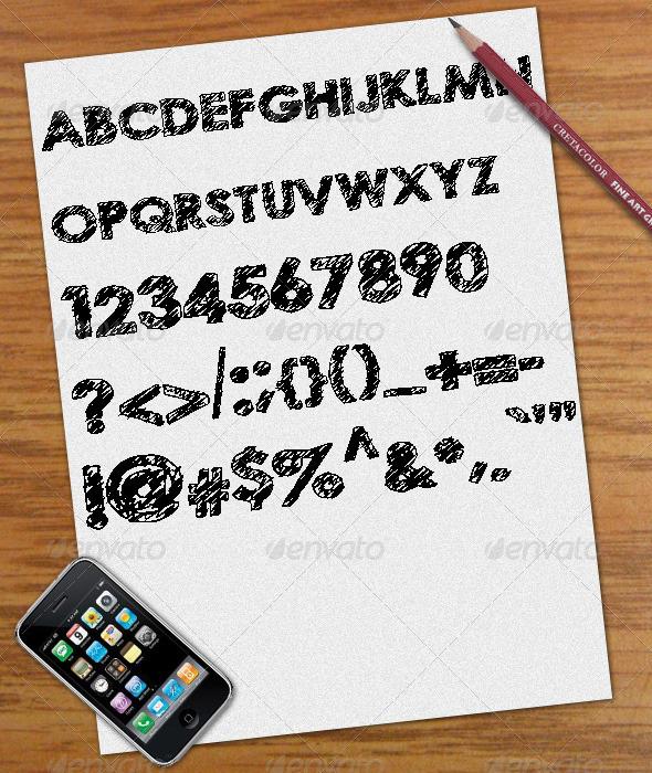 GraphicRiver Scribble Font 411431