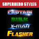 Superhero Styles - GraphicRiver Item for Sale