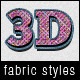 3D Fabric Text and Layer Styles - GraphicRiver Item for Sale