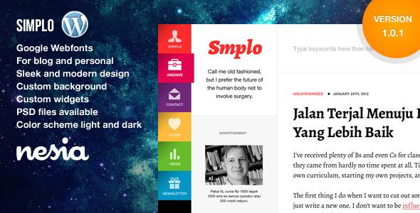 simplo-responsive-wordpress-blog-personal