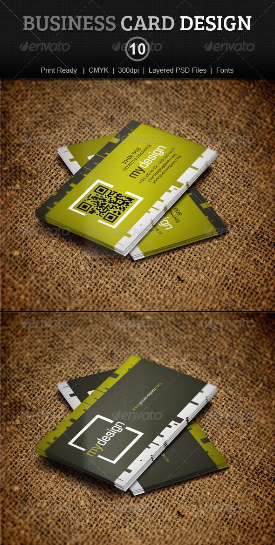 GraphicRiver Business Card Design 10 4009261